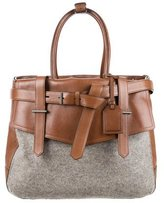 Reed Krakoff Wool & Leather Boxer I Bag