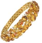 Roberto Coin Shanghai 18K Yellow Gold Diamond Citrine Bangle Bracelet