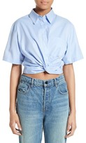 Alexander Wang Women's Twist Front Crop Shirt