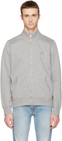 Burberry Grey Sheltone Zip-Up Sweater