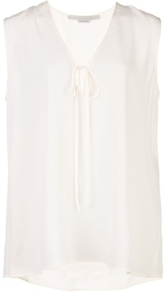 Stella McCartney Tie-Neck Sleeveless Blouse