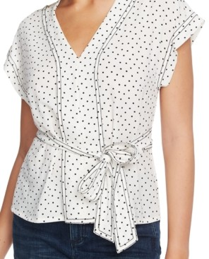 1 STATE Dotted Belted Top