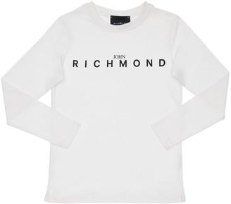 John Richmond Logo Print Cotton Jersey T-shirt