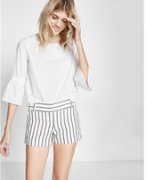 Express Striped Linen-blend Shorts