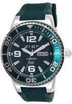 Jet Set – J55454-01 Wb30 Rubber Strap Unisex Watch – Analogue Quartz – Green Dial – Green