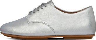 FitFlop Tomboy Oxford Metallic Leather Lace-Up Derbies