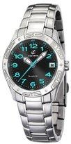Calypso Women's K5209/3 Black Dial Blue Accents Stainless Steel Bracelet Watch