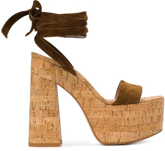 Gianvito Rossi Platform Ankle Wrap Sandals