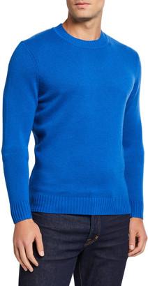 Neiman Marcus Men's Cashmere Ribbed Crewneck Sweater