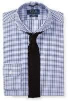 Ralph Lauren Slim Fit Cotton Dress Shirt 1898 Multi Blue Pane 18