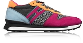 Hogan R261 Multicolor Fabric and Suede Sneakers