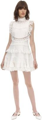 Zimmermann High Neck Lace Mini Dress