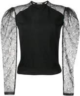 Saint Laurent cashmere lace sleeve jumper