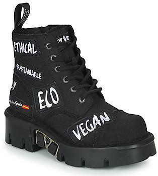 New Rock women's Mid Boots in Black
