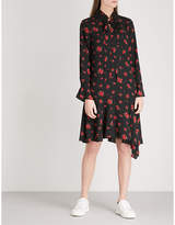 Mo&Co. Floral-print crepe shirt dress