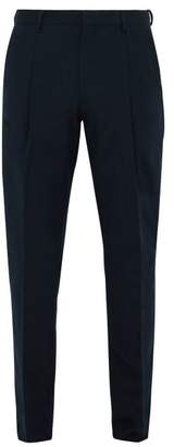 Acne Studios Tapered Cotton Trousers - Mens - Navy