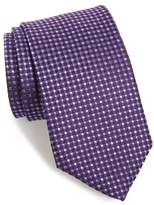 David Donahue Check Silk Tie