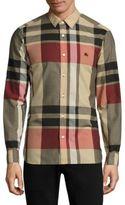 Burberry Coatson Plaid Button-Down Shirt