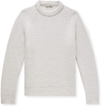 Our Legacy Ribbed Baby Alpaca-blend Sweater - Neutrals