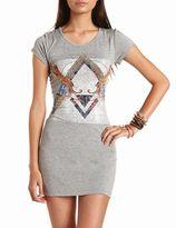 Charlotte Russe Cheetah Graphic Body-Con Dress
