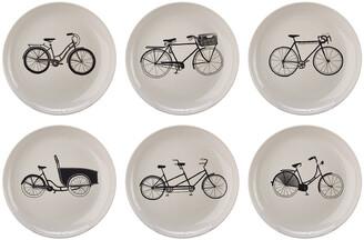 Pols Potten Bikes Salad Plates - Set of 6
