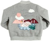 Stella McCartney Embroidered Wool Quilted Bomber Jacket