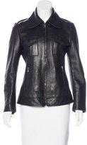 Dolce & Gabbana Leather Zip-Up Jacket