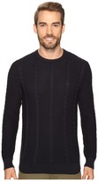 Lacoste Long Sleeve Resort Cotton Cable Crew Neck Men's Sweater