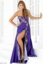 Blush Lingerie Sweetheart Animal Printed Layered A-Line Gown 9371