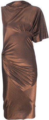 Rick Owens Lilies metallic midi dress