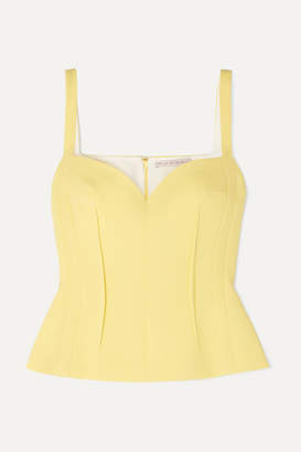 Emilia Wickstead Wool-crepe Top - Yellow