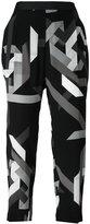 Neil Barrett geometric cropped trousers