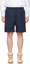 Toga Virilis Navy Wool Shorts