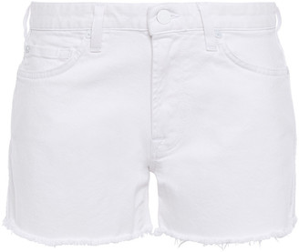 7 For All Mankind Frayed Denim Shorts