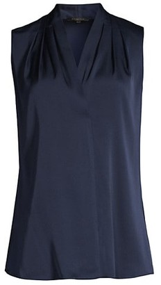 Kobi Halperin Stretch-Silk V-Neck Sleeveless Blouse