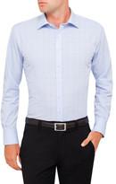 Van Heusen Prince Of Wales Windowpane Check Euro Fit Shirt