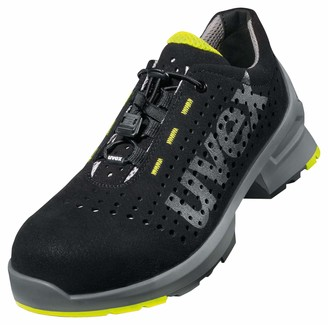 UVEX 1 Work Shoe - Safety Trainer S1 SRC ESD - Non-Slip Outsole - Toe Cap - Lightweight - Lime-Black