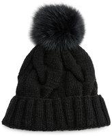 Loro Piana Baby Cashmere®; Courchevel Beanie Hat, Black