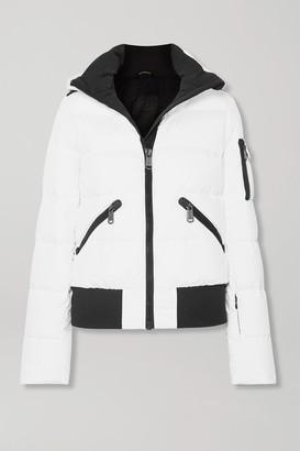 Goldbergh Kohana Hooded Appliqued Quilted Down Ski Jacket - White