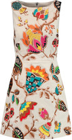 Alice + Olivia Lindsey embroidered cotton-blend mini dress