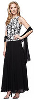 Alex Evenings Embroidered Bodice Long Dress