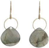 Melissa Joy Manning Labradorite Single Drop Earrings - Yellow Gold