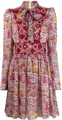 Giamba pussybow floral print dress