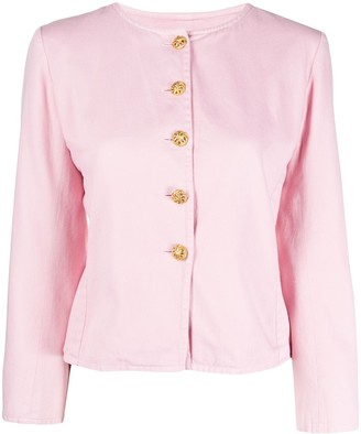 Yves Saint Laurent Pre Owned 1980s Round Neck Jacket