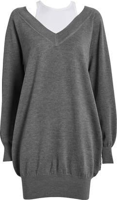 Alexander Wang Bi-Layer Wool Sweater Dress