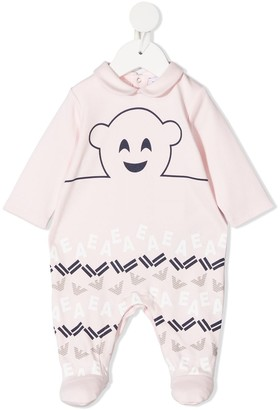 Emporio Armani Kids Logo-Print Cotton Pajama