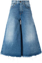 Off-White flared cropped jeans - women - Cotton/Polyester - 25