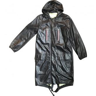 Celine Navy Leather Coats