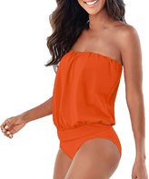 Donalworld Beach Women One-piece Strapless Bandage Swimwear Bodysuit Bikini