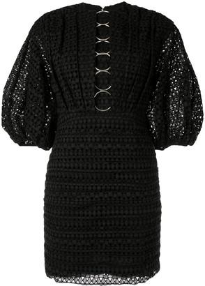 Acler Daniels embroidered mini dress